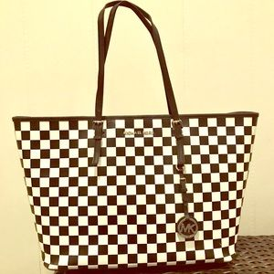 Michael Kors Large Checkerboard Leather Tote